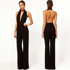 Show off your gracious back wearing this backless jumpsuit to kill!