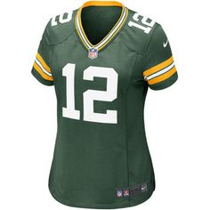 48038c843fb58 Green Bay Packers #12 Aaron Rodgers Home Women's Game Replica Jersey Green  Bay Packers Gifts
