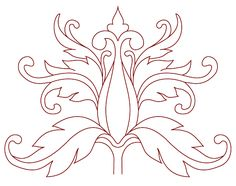 free hand embroidery patterns | Free Hand Embroidery Pattern for Embroidery or Goldwork: Stylized ...