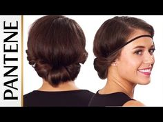 Headband Roll and Tuck Updo: Easy Hairstyles for Short Hair - YouTube
