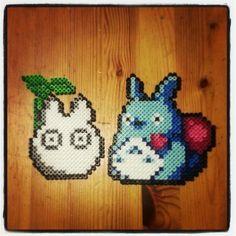 Totoro perler bead sprite by spowerroar