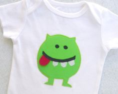 Baby Monster Bodysuit Green by vpettet on Etsy