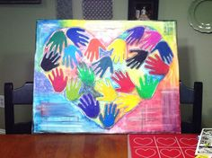 First project for me to upload.  This is an art project we did for TKs class that will be sold at the silent auction.