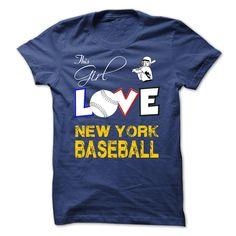 This Girl Love New York Baseball T-Shirt