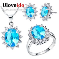 Find More Jewelry Sets Information about Bague En or Mariage Jewelry Sets Jewelry Love Gift for Women Valentine's Day Mystic Topaz Bridal Jewelry Sets T466,High Quality heart of fire ring,China heart children Suppliers, Cheap heart halloween from ULOVE Fashion Jewelry on Aliexpress.com
