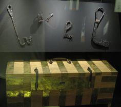 "Box and keys. ""Vikings"" Exhibit at Field Museum, Chicago, Illinois, Field Museum, Chicago Illinois, Exhibit, Missouri, Indiana, Vikings, Keys, Scandinavian, Box"