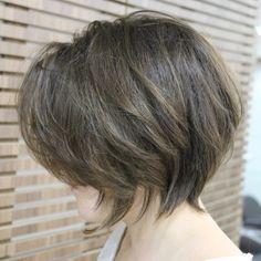 Layered+Tousled+Bob+Hairstyle