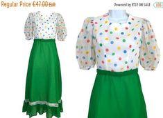 Post Etsy Items on Pinterest Sheer Chiffon, Chiffon Dress, Dresses For Sale, Dress Sale, Folk Fashion, Ruffle Skirt, Green Dress, Rockabilly, Mardi Gras