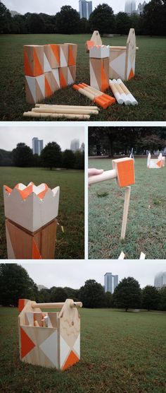 How to Make and Play a Kubb Set | The Home Depot Community