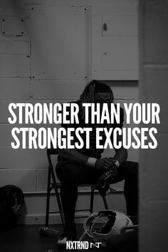 Be stronger than your strongest excuses.  #FootballQuotes #SportQuotes #Motivation #Inspiration #Football #Nxtrnd #Training Best Football Quotes, Motivational Quotes For Athletes, Mouth Guard, Sport Quotes, Stronger Than You, Motivation Inspiration, Training, Work Outs, Excercise