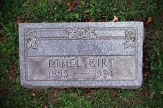 "Effa ""Ethel"" Moore Girt ~ West Lawn Cemetery, Stark County, Ohio #genealogy"