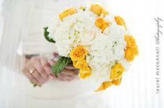 Caitlin and DanCaitlin and Dan - @LaurelMcConnellPhoto Urban Seattle Wedding Yellow and Grey Weddings Olympic Sculpture Park Real Weddings Bouquet