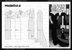 """Lady Gaga, que sempre ganha """"memes"""" na internet ao pisar no tapete vermelho, como no Oscar do ano passado, onde ornou o seu vestido Azzedi..."""