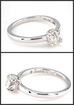 Moderne Rough Diamond Engagement Ring- Simplicity natural beauty !