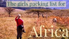 Whether you're on a an overland safari, on a mission trip, or just traveling around the massive continent here is the ultimate africa packing list for girls
