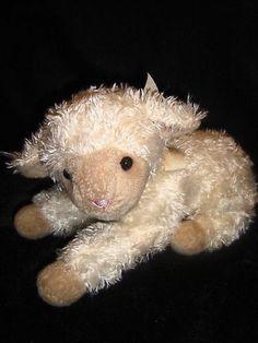 """10"""" Pottery Barn Kids PBK Cream/Ivory Plush Lamb Musical Wind Up key Stuffed Toy"""