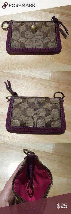 Coach Coin Purse Coach Coin Purse. Some wear on the corners. No stains or rips  Some free home Coach Bags Wallets