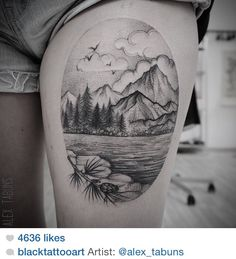 Mountain scene tat