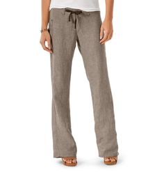 these pants look cool and comfy Horny Toad Lithe Pants $82.00 Imbued with the loft and airiness of 100% pure linen and the eternally satisfying nature of a good chambray, our Lithe Pant just gets better with each wear. Attributes include a drawstring at the waistband for a perpetually accurate fit, wrap around patch pockets and a flattering, angled back yoke.