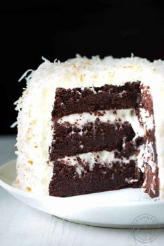 17 chocolate cake recipes. Toasted coconut and marshmallow.
