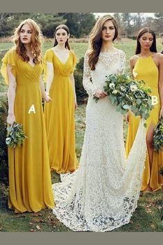 282a0979ce 17 Best lemon bridesmaid dresses images