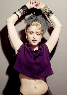 Madonna 1983 by Gary Heely for first album