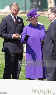 HRH Prince Charles looks on while HM Queen Elizabeth II talks with the Scottish…