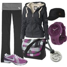 Grey and Purple, created by miranda7rose.polyvore.com