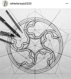 Pentagonal sacred geometry- one of seven on band Geometric Drawing, Geometric Art, Geometric Patterns, Sacred Geometry Art, Geometry Tattoo, Sacred Geometry Patterns, Sacred Architecture, Gothic Architecture Drawing, Architecture Design