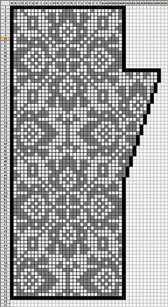 Fair Isle knitting chart - could be use for filet crochet or cross stitch Punto Fair Isle, Motif Fair Isle, Fair Isle Chart, Fair Isle Pattern, Fair Isle Knitting Patterns, Knitting Charts, Knitting Designs, Knitting Stitches, Free Knitting