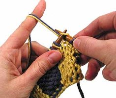 Double Knitting.  Position of the working yarn. This is crucial and the single most important skill to master.  Clear concise pics with this tutorial.
