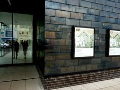 Entrance and posters at the Jerwood Gallery, Hastings