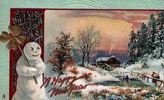vintage New Year Illustration, lots more on blog!