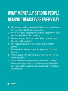 7 Things Mentally Strong People Remind Themselves Every Day