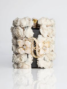 Handmade Cream Wrist Corsage with Hidden Wallet by CuffNGo on Etsy, #weddings #prom #accessories
