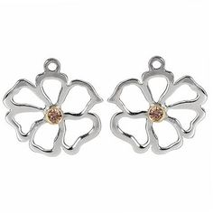 Earrings: Sterling Silver, Gold, and two-tone Pandora earrings Pandora Earrings, Pandora Beads, Pandora Jewelry, Pandora Charms, Jewelry Bracelets, Jewellery, Flower Earrings, Stud Earrings, Jewelry Companies