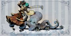 skating with otto by BrianKesinger on DeviantArt
