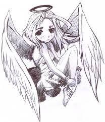 Resultado de imagen para dibujos de angeles a lapiz