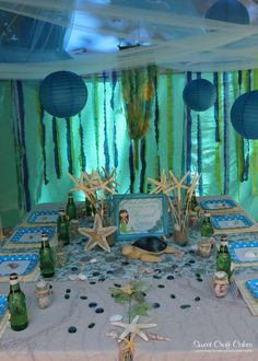 Under the Sea/ Mermaid Party Birthday Party Ideas   Photo 2 of 43   Catch My Party