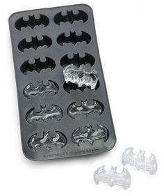A little yellow food coloring and these would be awesome in a simple glass of water. Batman.
