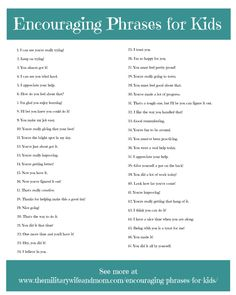 Encouraging Phrases for Kids You Must Try