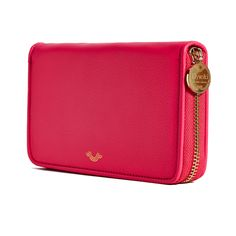 Hot Pink Poppy Zip Around Wallet by Elyse & i by Cheet London.  I can never have enough pink in my life...