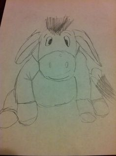 Check out this cute sketch of Eeyore from Winnie the Pooh, drawn by Willi, 10 years old, our Artist Of The Day on 11/07/2012. #kidart #eeyore