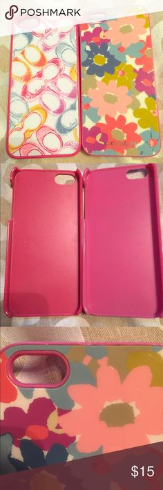 📱Coach Lot of 2 Authentic iPhone 5s Cell Cases Lot of Two! Authentic Coach Cell phone cases. For iPhone 5. I was in love with these cases, yet I have the iPhone 6 now. Cases are so pretty and colorful. Hard plastic casing. Markings / scratches shown in pictures. Used these a lot, and still durable! Coach Accessories Phone Cases