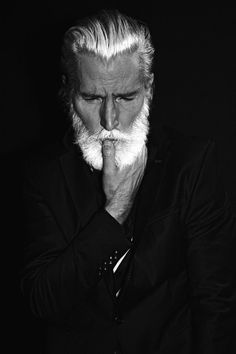 It's a Man's World - www.chalemagne-pr… View the best mens hairstyles from Charlemagne Premium male grooming and beard - Beard Styles For Men, Hair And Beard Styles, Style Gentleman, Beard Model, Grey Beards, Men With Grey Hair, Its A Mans World, Awesome Beards, Beard Tattoo