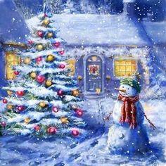 Juletræet beundres!