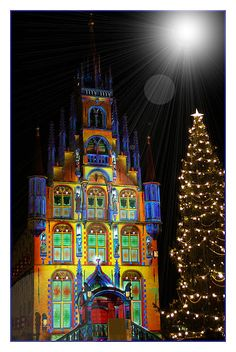 Christmas in City-hall of Gouda, Netherlands
