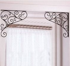 2013 Free Shipping   Wrought iron decorative wall angle bracket / bracket / door trim windows decorated tripod