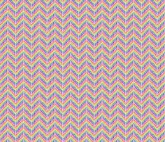 fabric, upholstery, patterns, quilting fabric, wallpaper, wrapping paper - Crayon Chevron Rainbow fabric by wickedrefined on Spoonflower