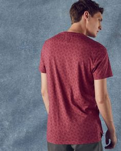 Geo print cotton T-shirt - Pink | Tops and T-shirts | Ted Baker UK